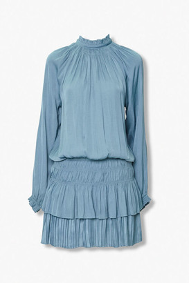 Forever 21 Tiered Mock Neck Peasant Dress