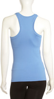 Spanx Ribbed Racerback Tank, Dynamic Blue