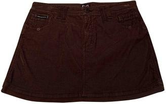Dolce & Gabbana Brown Cotton - elasthane Skirt for Women