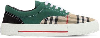 Burberry Check Multi Canvas Skate Lowtop Sneakers