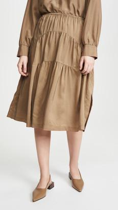 Vince Shirred Panel Skirt