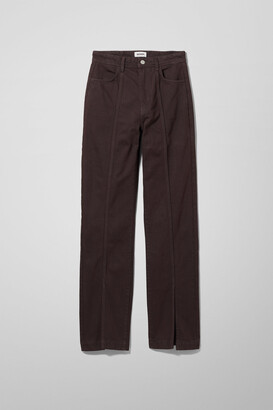 Weekday Alabama Denim Trousers - Brown