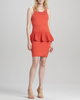 Milly Nicole Crochet Peplum Dress, Kumquat