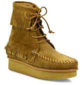 Giuseppe Zanotti Svoll Suede Fringe Moccasin Booties