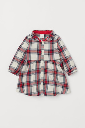 H&M Patterned Shirt Dress - Beige
