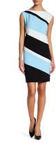 Sandra Darren Striped Crepe Dress (Petite)