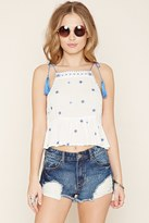 Forever 21 FOREVER 21+ Ornate-Embroidered Cropped Cami