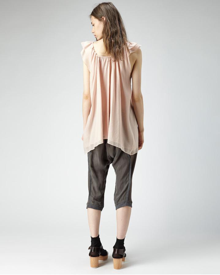 Tsumori Chisato cropped drop crotch pants