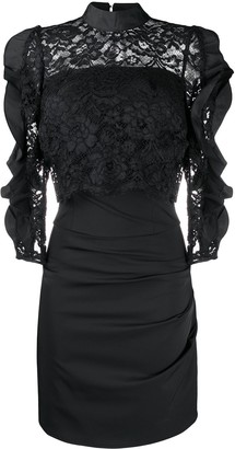 Elisabetta Franchi Lace Panel Mini Dress