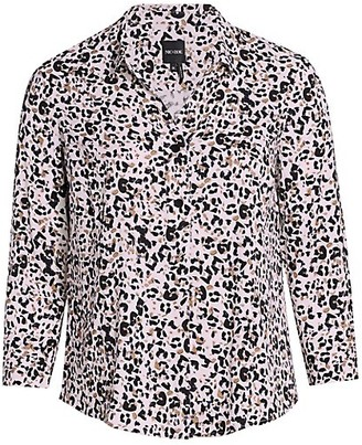 NIC+ZOE, Plus Size Femme Cheetah Shirt