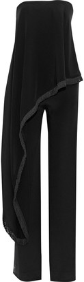 Adam Lippes Strapless Layered Silk-cady Jumpsuit