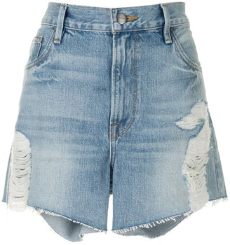Frame Le Ultra Baggy high-rise shorts