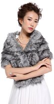 Hailie Bridal HailieBridal Sleeveless Faux Fur Bride Bridesmaid Wedding Shawl