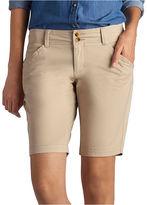 Lee 8 1/2 Straight Fit Twill Bermuda Shorts-Petites