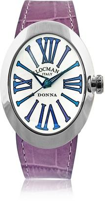 Locman Change Stainless Steel Oval Case Women's Watch w/3 Leather Straps