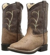 Old West Kids Boots Square Toe Vintage (Toddler) (Tan) Cowboy Boots