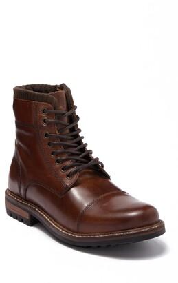 Crevo Regent Cap Toe Leather Lug Boot