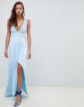 Asos DESIGN lace trim maxi dress