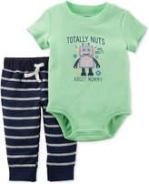 Carter's 2-Pc. Robot-Graphic Bodysuit & Pants Set, Baby Boys & Girls