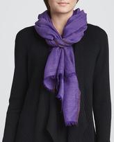 Eileen Fisher Herringbone Wool/Silk Scarf, Jasmine