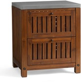 Pottery Barn Abbott Kitchen Two-Drawer Cabinet, Brown