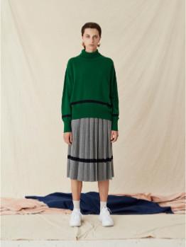 Libertine-Libertine Voo Green Lambswool Husky Knit Sweater - m | Lambswool | green - Green/Green