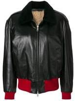 Calvin Klein Women's Black Leather Outerwear Jacket.