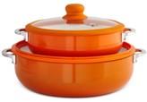 Imusa 2-Pc. Orange Ceramic Caldero Set