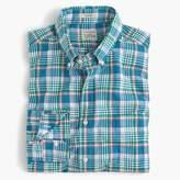 J.Crew Secret Wash shirt in light blue plaid