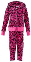 Juicy Couture Hot Pink and Black Leopard Jewelled Tracksuit