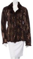Adrienne Landau Fur-Trimmed Patchwork Jacket