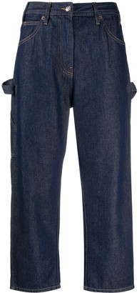 MM6 MAISON MARGIELA Cropped Cut Jeans