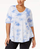 Calvin Klein Plus Size Printed V-Neck T-Shirt