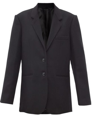 Lemaire Single-breasted Felted Wool-blend Blazer - Black