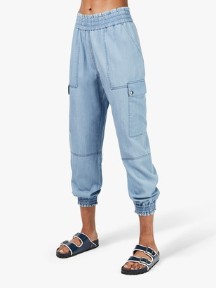 Sweaty Betty Iris 7/8 Cargo Trousers, Chambray Blue