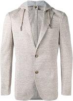 Eleventy hooded blazer - men - Cotton/Linen/Flax/Polyester/Acetate - 48