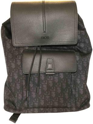 Christian Dior Oblique Anthracite Cloth Bags