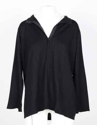Lamberto Losani Black Wool and Silk Women's Sweater