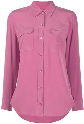 Equipment Long-Sleeved Silk Shirt