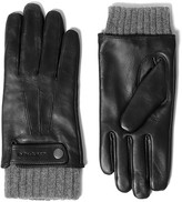 Mackage Bradner Leather Gloves With Biker Accent For Men In Black