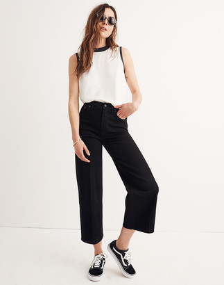 Madewell Tall Wide-Leg Crop Jeans in Black Frost