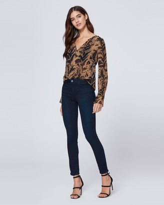 Paige JOJIE BLOUSE-HYDE/BLACK - MIXED TIGER