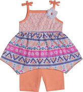 Little Lass Top and Shorts Set - Preschool Girls 4-6x