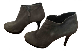Balenciaga Grey Suede Boots