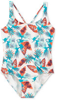 Roxy Salty Shade 1-Pc. Floral-Print Swimsuit, Big Girls (7-16)