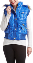 Royal Faux Fur Trim Hooded Vest