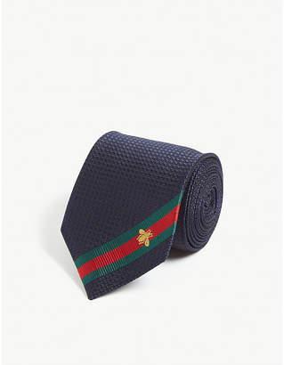 Gucci Logo stripe silk tie