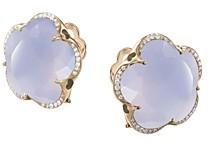Pasquale Bruni 18K Rose Gold Bon Ton Blue Chalcedony & Diamond Floral Earrings