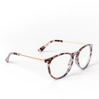 francesca's Hillary Blue Light Tort Eyeglasses - Tortoise