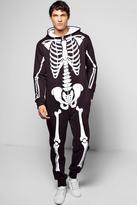 Boohoo Skeleton Hooded Onesie